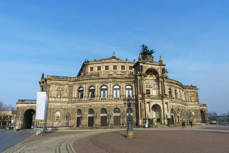 Semper di Dresda del teatro dell'opera immagini stock libere da diritti