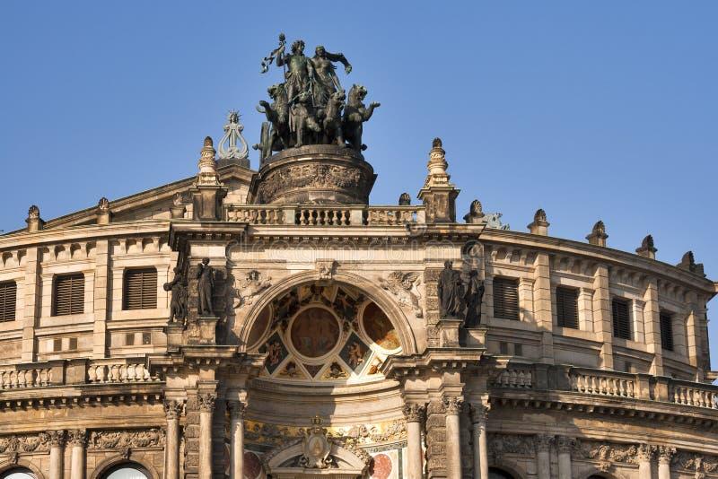 Semper Opera House in Dresden stock image