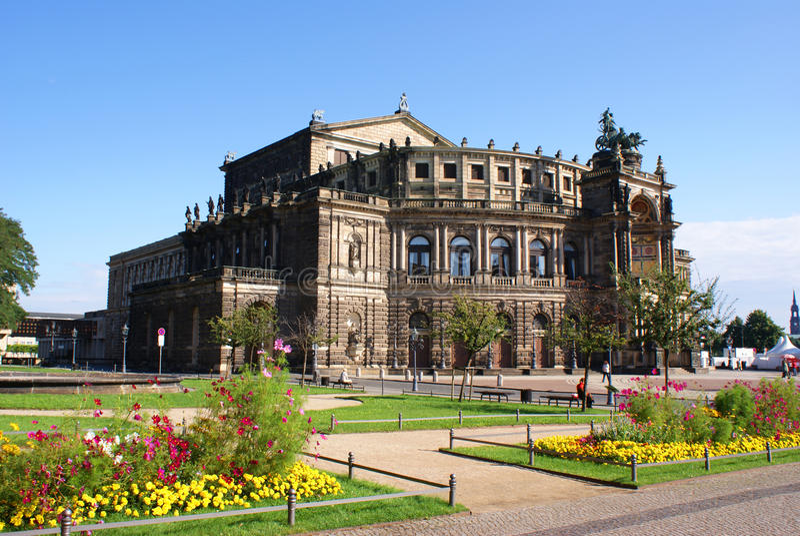 Semperoper a Dresda fotografia stock libera da diritti