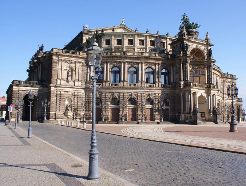 Semperoper a Dresda immagini stock libere da diritti