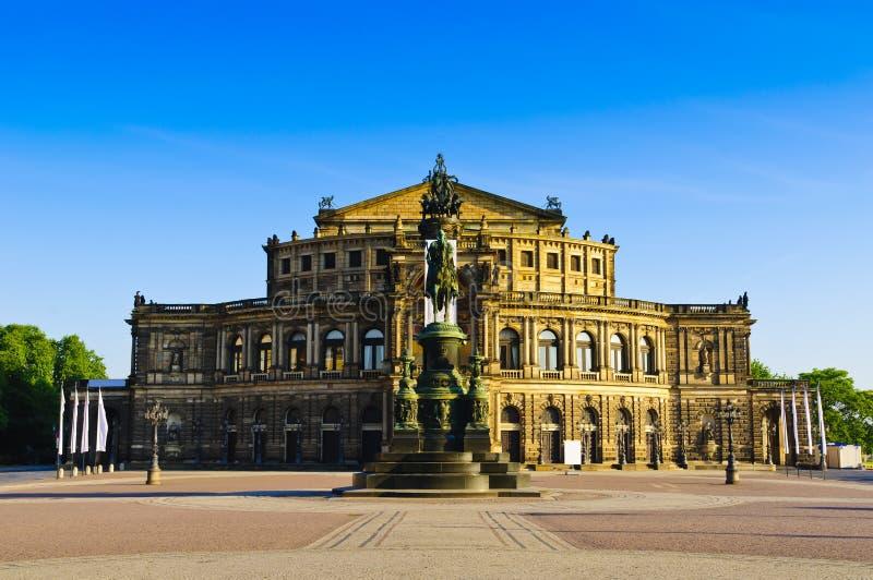 Semperoper Dresda fotografie stock