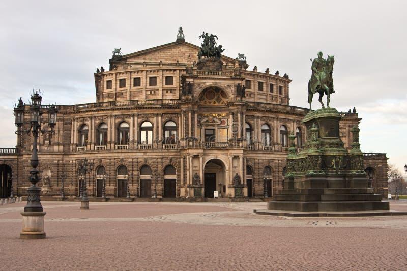Semperoper a Dresda, Germania fotografie stock