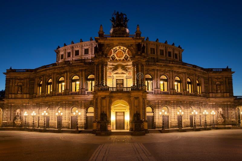 Semperoper em Dresden foto de stock royalty free
