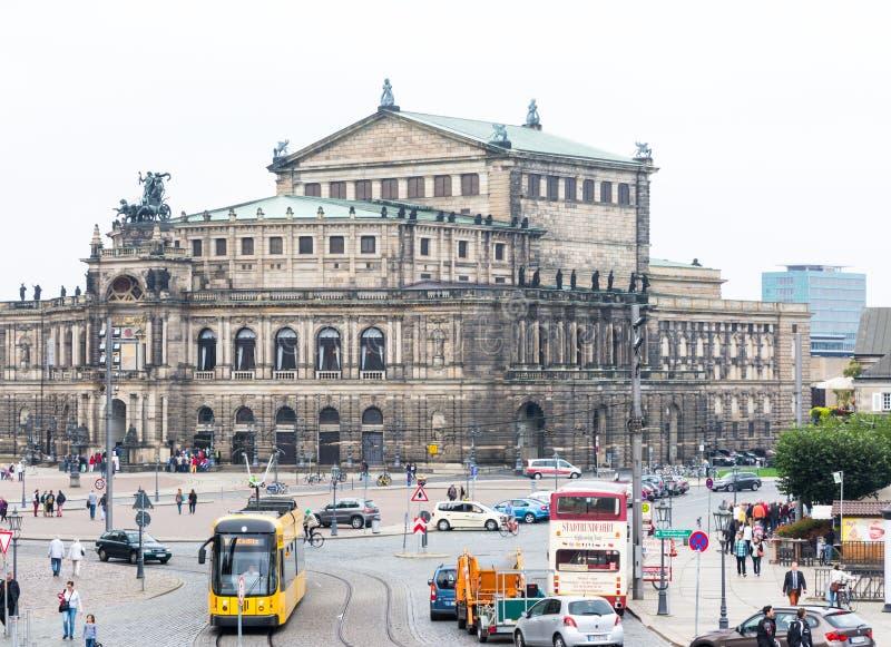 Semperoper em Dresden fotos de stock royalty free