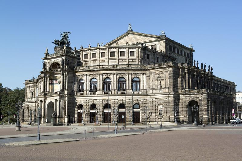 Semperoper opera building in Dresden royalty free stock photography