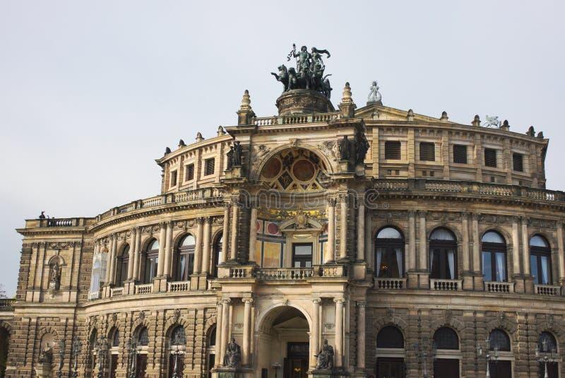 Semperopera - II - Dresden - Duitsland royalty-vrije stock afbeeldingen