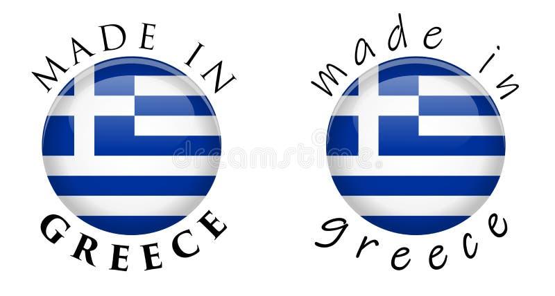 Semplice fatto nel segno del bottone della Grecia 3D Testo intorno al cerchio con il Gr royalty illustrazione gratis