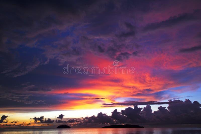 Semporna Tanjung Jest Plażowy obraz royalty free
