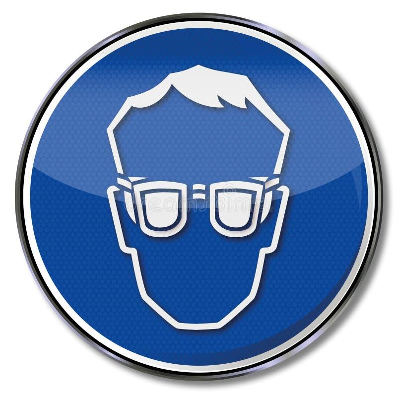 Sempre occhiali di protezione di usura illustrazione vettoriale