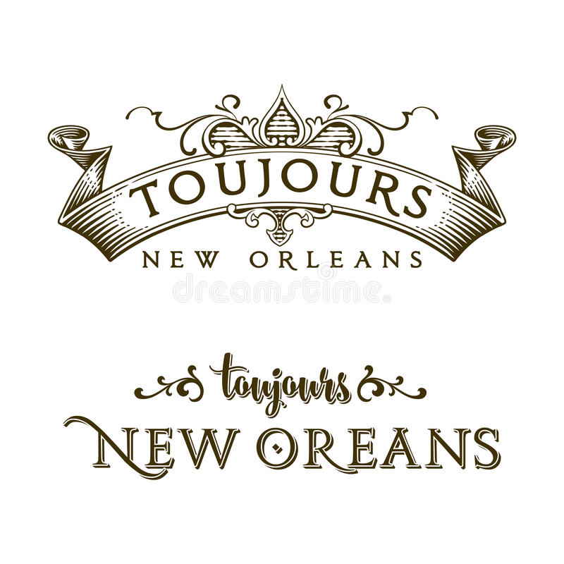 Sempre quartiere francese di New Orleans illustrazione di stock