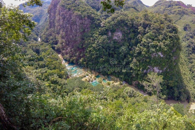 Semuc Champey, Guatemala fotografía de archivo