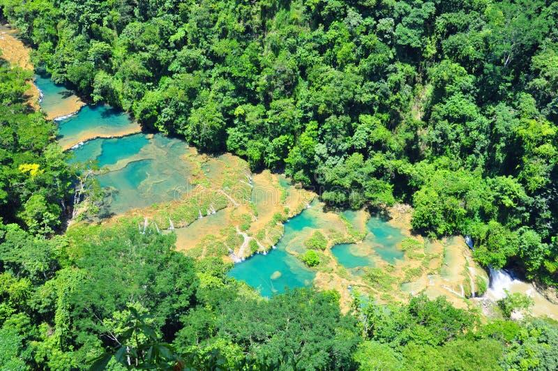 Semuc Champey, Guatemala imagen de archivo