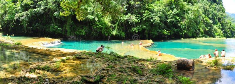 Semuc Champey, Guatemala fotos de stock