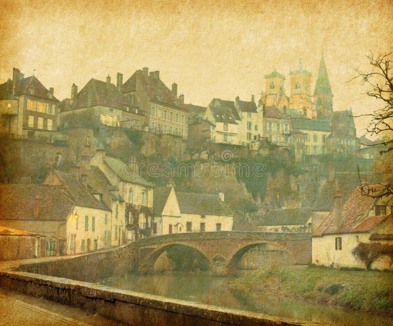 Semur-en-Auxois. imagen de archivo libre de regalías
