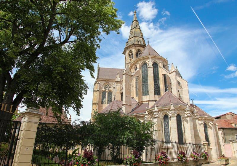 Semur-en-Auxois, Borgogna fotografie stock