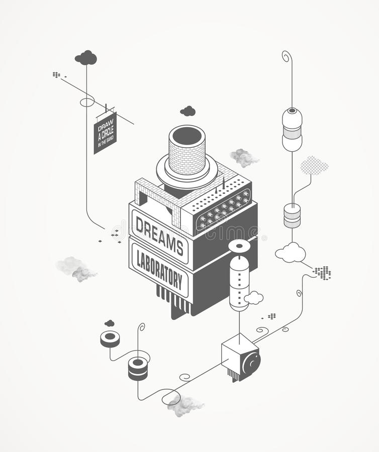 Sen Laboranccy ilustracja wektor