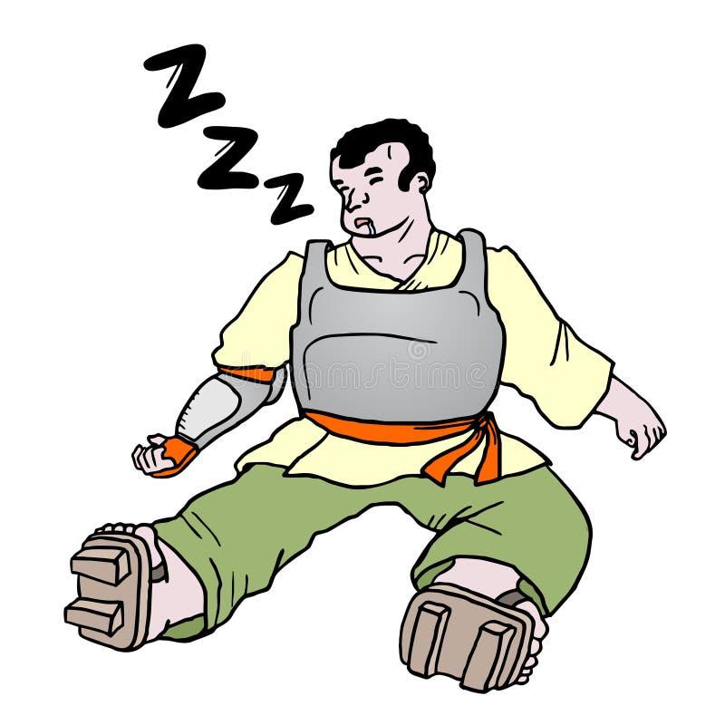 Sen mężczyzna ilustracja wektor