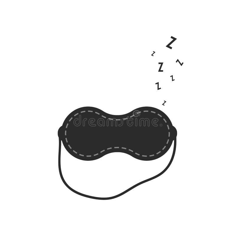 Sen maska z chrapa znakiem royalty ilustracja