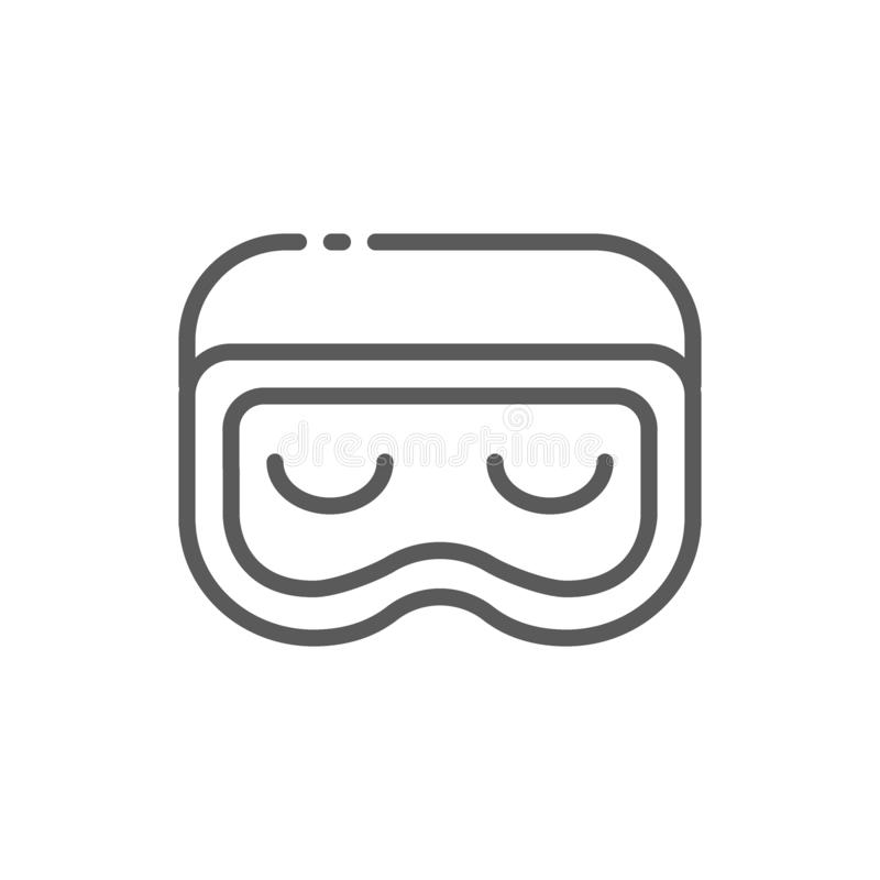 Sen maski linii ikona royalty ilustracja