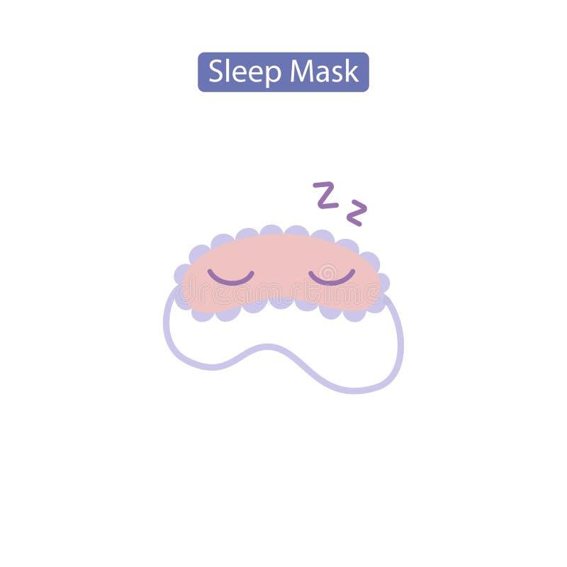 Sen maskowa płaska ikona ilustracja wektor