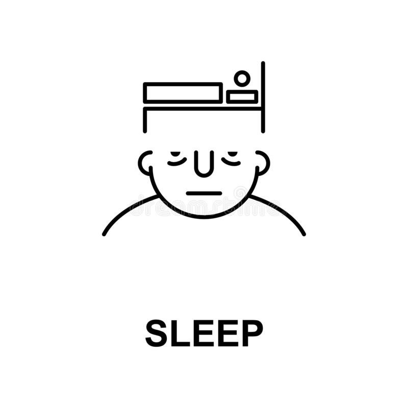 sen na umysł ikonie Element ludzki umysł ikona dla mobilnych pojęcia i sieci apps Cienki kreskowy sen na umysł ikonie może używać ilustracji