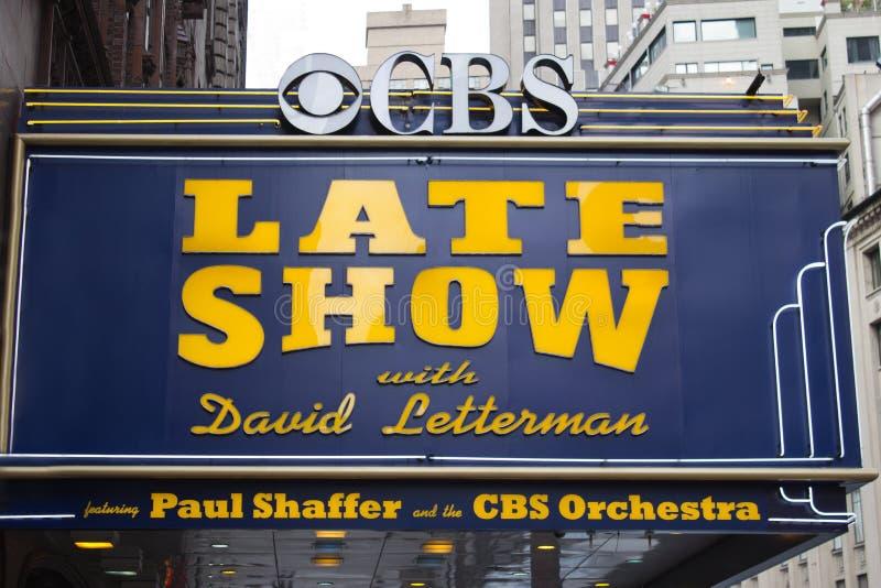 Sen show med David Letterman arkivfoto