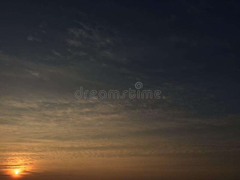 Sen solnedgång arkivbilder