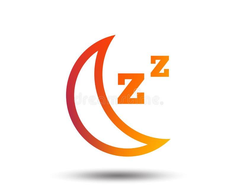 Sen szyldowa ikona Księżyc z zzz guzikiem ilustracji