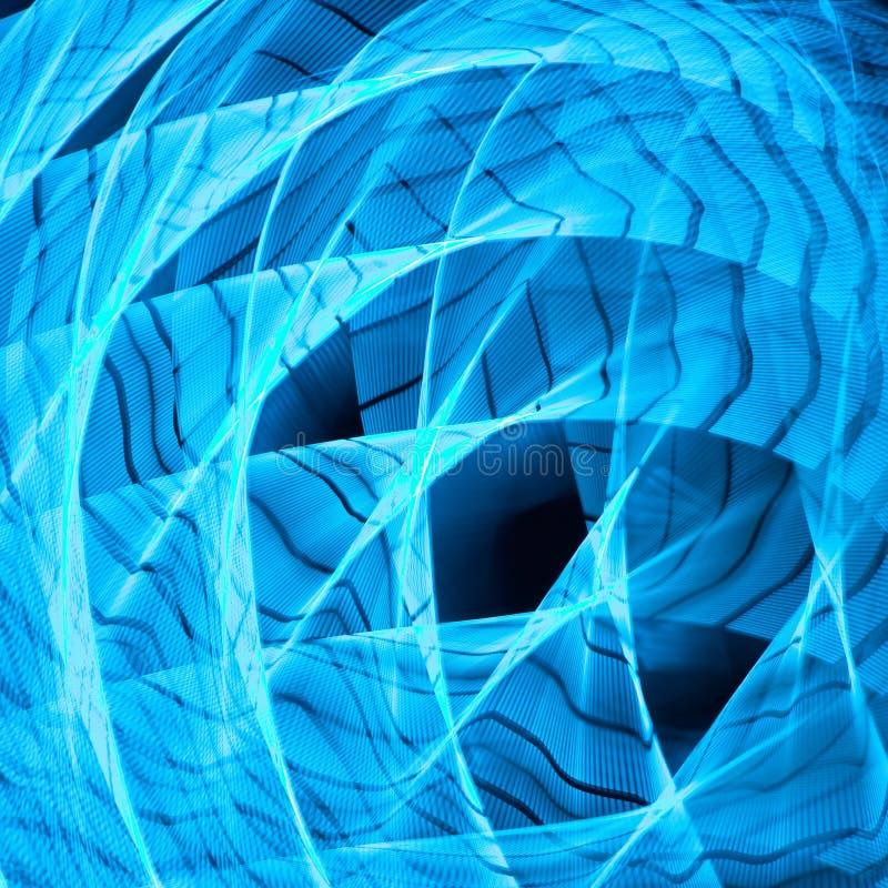 Sen w błękitnych kształtach - surrealistycznych royalty ilustracja