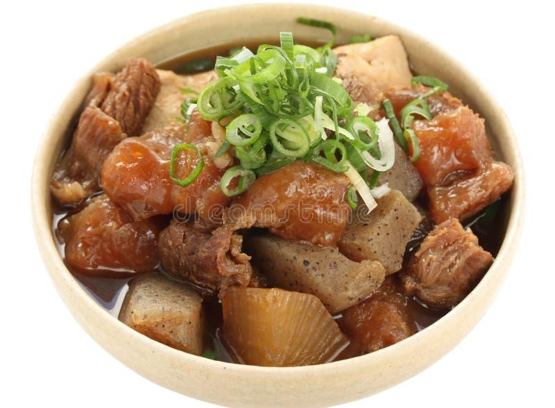 sena för stew för nötköttmat japansk arkivfoto