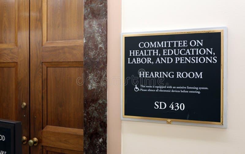 Senaatsgezondheid, Onderwijs, Arbeid, en Pensioenencomité stock foto's