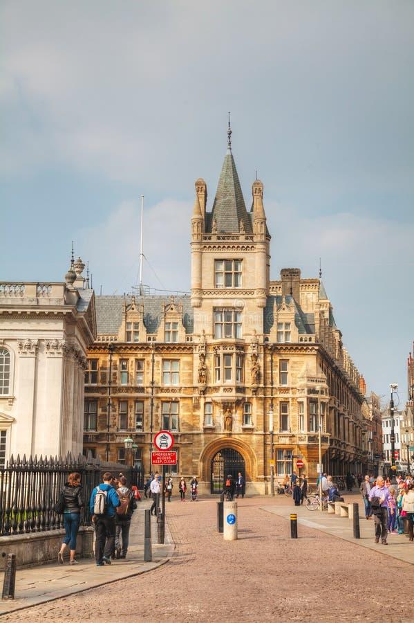 Senaatshuis in Cambridge, het UK stock afbeelding