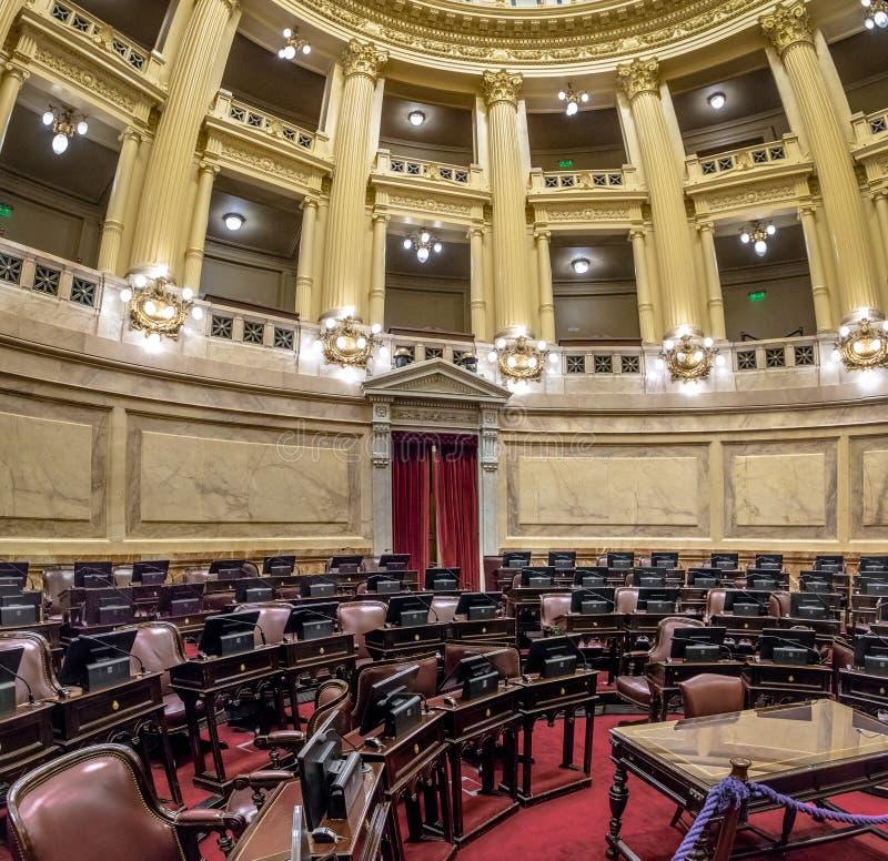 Senado argentino en el congreso nacional de la Argentina - Buenos Aires, la Argentina foto de archivo