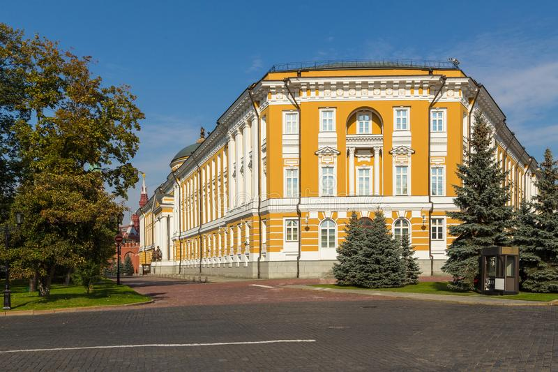Senado del Kremlin, un edificio dentro de los argumentos de la Moscú el Kremlin, Rusia imagenes de archivo