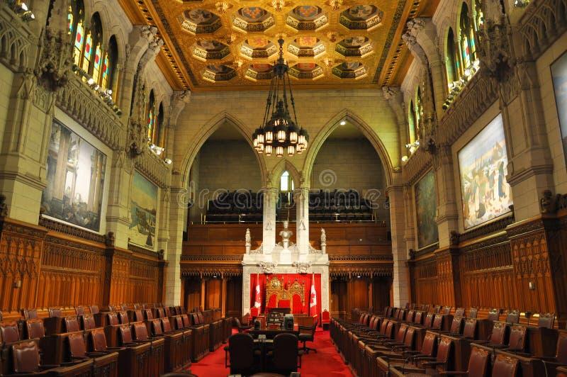 Senado del parlamento, Ottawa, Canadá imagen de archivo