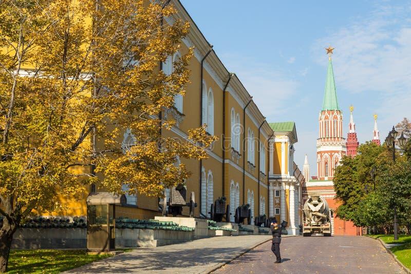 Senado do Kremlin, uma construção dentro das terras do Kremlin de Moscou, Rússia imagem de stock royalty free