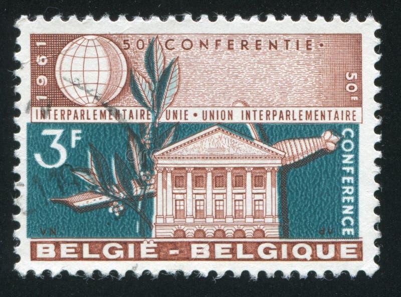 Senado que construye Bruselas imágenes de archivo libres de regalías