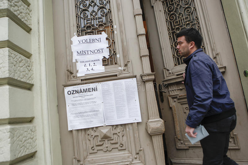 Senado y elecciones regionales en República Checa imágenes de archivo libres de regalías