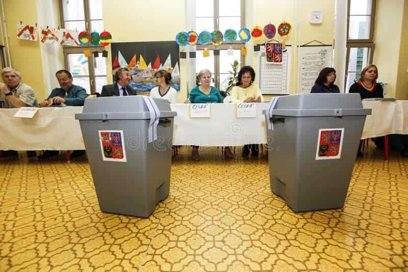 Senado y elecciones regionales en República Checa fotos de archivo