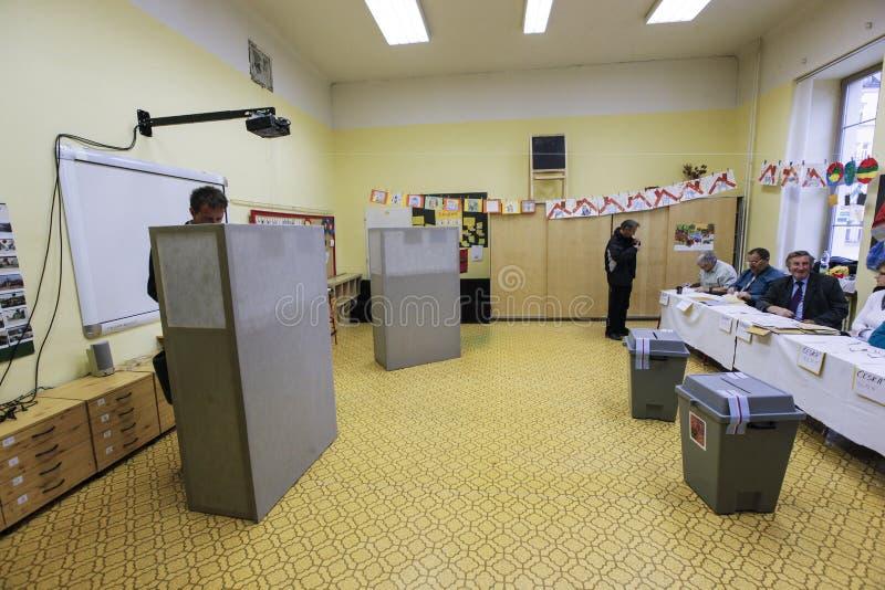 Senado y elecciones regionales en República Checa imagenes de archivo