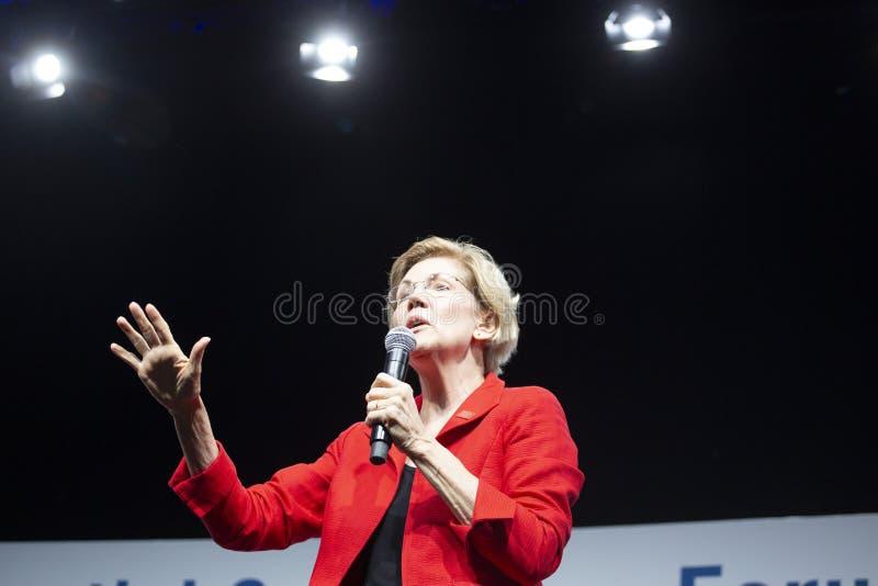 Senador Elizabeth Warren, o 10 de agosto de 2019 foto de stock