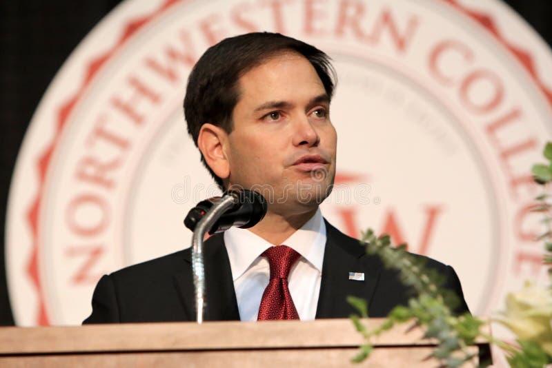 Senador Marco Rubio del candidato presidencial imagen de archivo