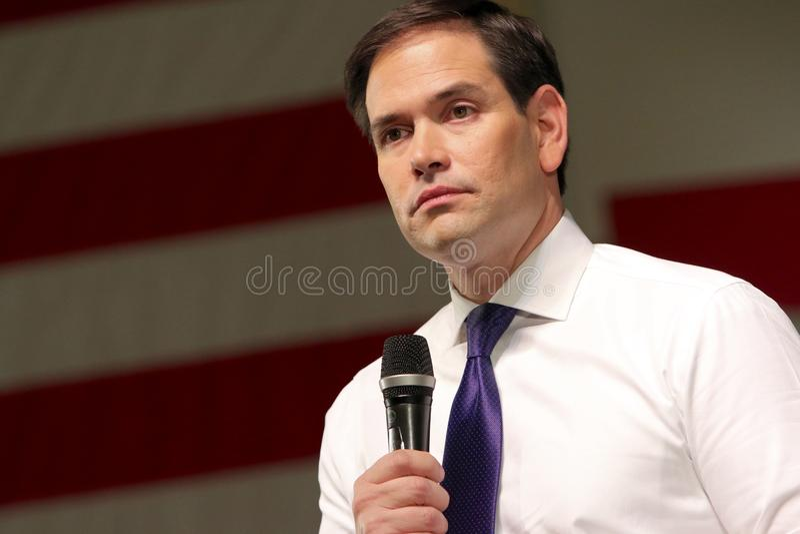 Senador Marco Rubio do candidato presidencial imagem de stock royalty free