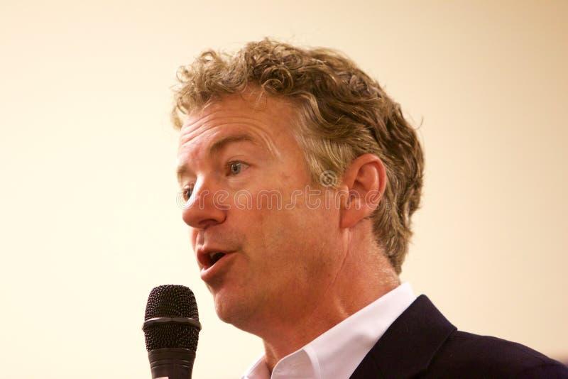 Senador Rand Paul do candidato presidencial foto de stock royalty free