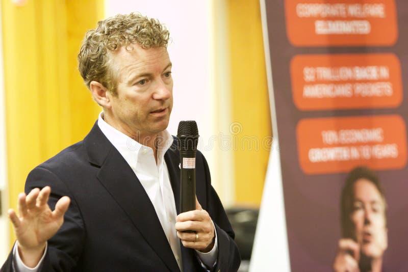 Senador Rand Paul do candidato presidencial fotografia de stock