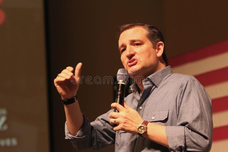 Senador Ted Cruz del candidato presidencial imagen de archivo libre de regalías