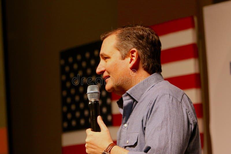 Senador Ted Cruz do candidato presidencial imagens de stock