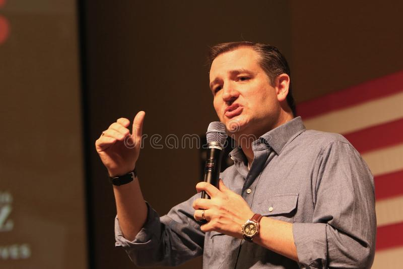 Senador Ted Cruz do candidato presidencial imagem de stock royalty free