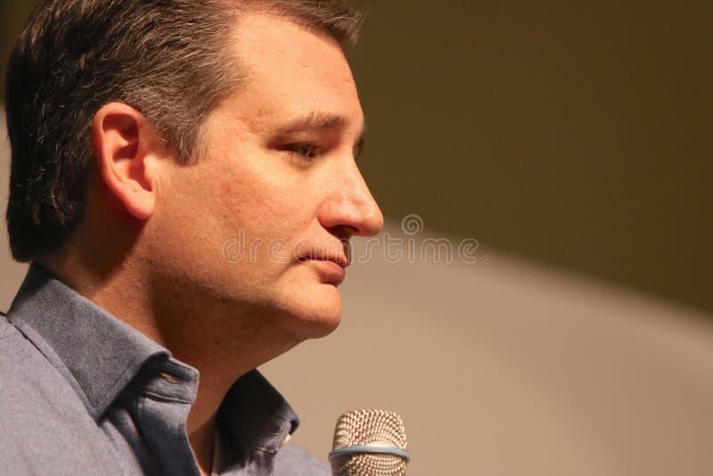 Senador Ted Cruz do candidato presidencial fotografia de stock