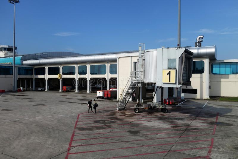 Senailuchthaven in Johor, Maleisië wordt gevestigd dat royalty-vrije stock fotografie